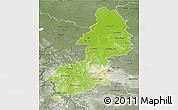Physical 3D Map of Braunschweig, semi-desaturated