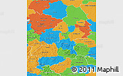 Political 3D Map of Braunschweig