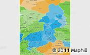 Political Shades 3D Map of Braunschweig