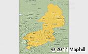 Savanna Style 3D Map of Braunschweig