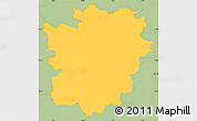 Savanna Style Simple Map of Braunschweig