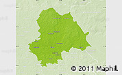 Physical Map of Gifhorn, lighten