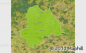 Physical Map of Gifhorn, satellite outside