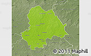 Physical Map of Gifhorn, semi-desaturated