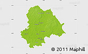 Physical Map of Gifhorn, single color outside