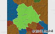 Political Map of Gifhorn, darken