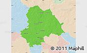 Political Map of Gifhorn, lighten
