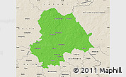Political Map of Gifhorn, shaded relief outside