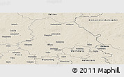 Shaded Relief Panoramic Map of Gifhorn