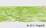 Physical Panoramic Map of Göttingen