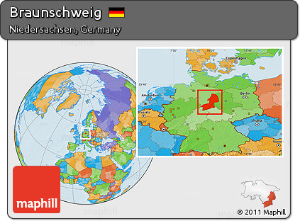 Free Political Location Map of Braunschweig