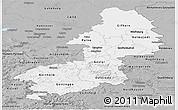 Gray Panoramic Map of Braunschweig