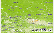 Physical Panoramic Map of Braunschweig