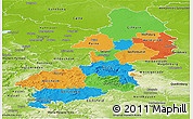 Political Panoramic Map of Braunschweig, physical outside