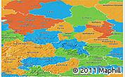 Political Panoramic Map of Braunschweig