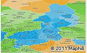 Political Shades Panoramic Map of Braunschweig