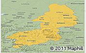 Savanna Style Panoramic Map of Braunschweig