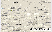 Shaded Relief Panoramic Map of Braunschweig
