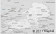 Silver Style Panoramic Map of Braunschweig