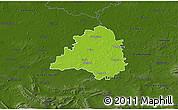 Physical 3D Map of Peine, darken