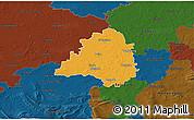 Political 3D Map of Peine, darken
