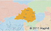 Political 3D Map of Peine, lighten