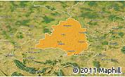 Political 3D Map of Peine, satellite outside