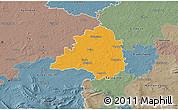 Political 3D Map of Peine, semi-desaturated