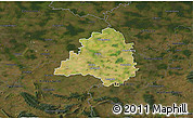 Satellite 3D Map of Peine, darken
