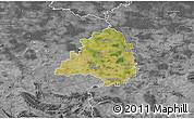 Satellite 3D Map of Peine, desaturated