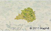 Satellite 3D Map of Peine, lighten