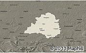 Shaded Relief 3D Map of Peine, darken