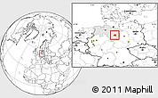 Blank Location Map of Peine, highlighted grandparent region