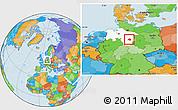 Political Location Map of Peine, highlighted grandparent region