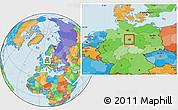 Political Location Map of Peine