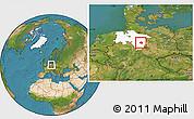 Satellite Location Map of Peine, highlighted grandparent region