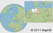 Savanna Style Location Map of Peine, highlighted grandparent region