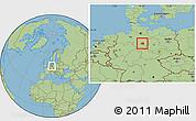 Savanna Style Location Map of Peine