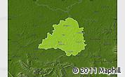Physical Map of Peine, darken