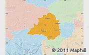 Political Map of Peine, lighten