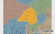 Political Map of Peine, semi-desaturated