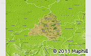 Satellite Map of Peine, physical outside