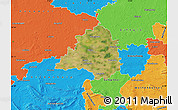 Satellite Map of Peine, political outside