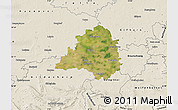 Satellite Map of Peine, shaded relief outside