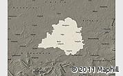 Shaded Relief Map of Peine, darken