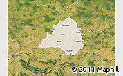Shaded Relief Map of Peine, satellite outside