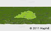 Physical Panoramic Map of Peine, darken