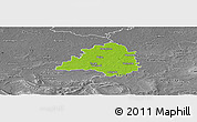 Physical Panoramic Map of Peine, desaturated
