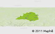 Physical Panoramic Map of Peine, lighten