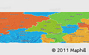 Physical Panoramic Map of Peine, political outside